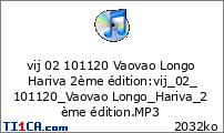 vij 02 101120 Vaovao Longo Hariva 2ème édition
