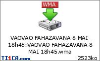 VAOVAO FAHAZAVANA 8 MAI 18h45